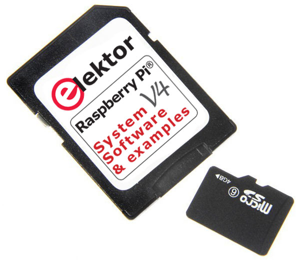 SD-Card with software for the book Raspberry Pi