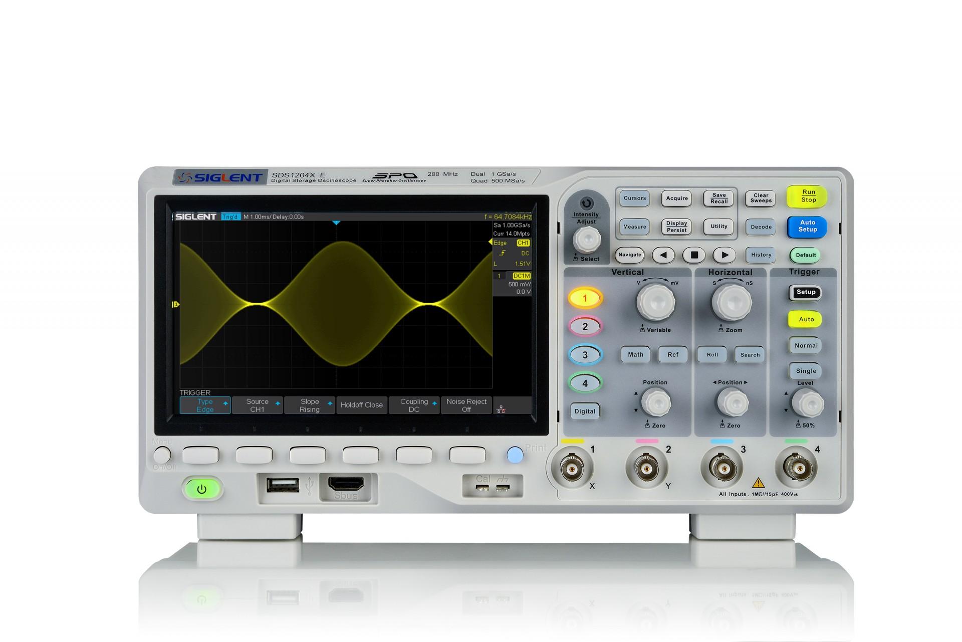Siglent SDS1204X-E 4-channel Oscilloscope (200 MHz)