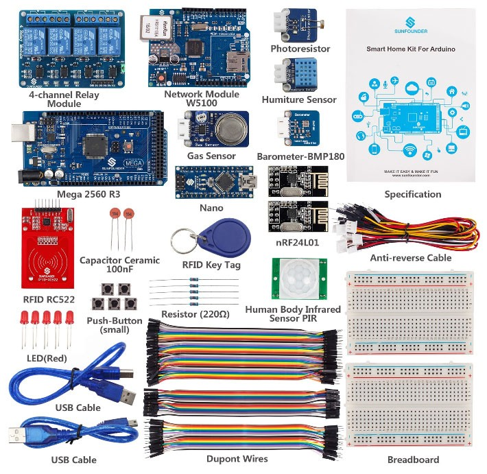 Smart Home Internet of Things Kit V2.0 for Arduino