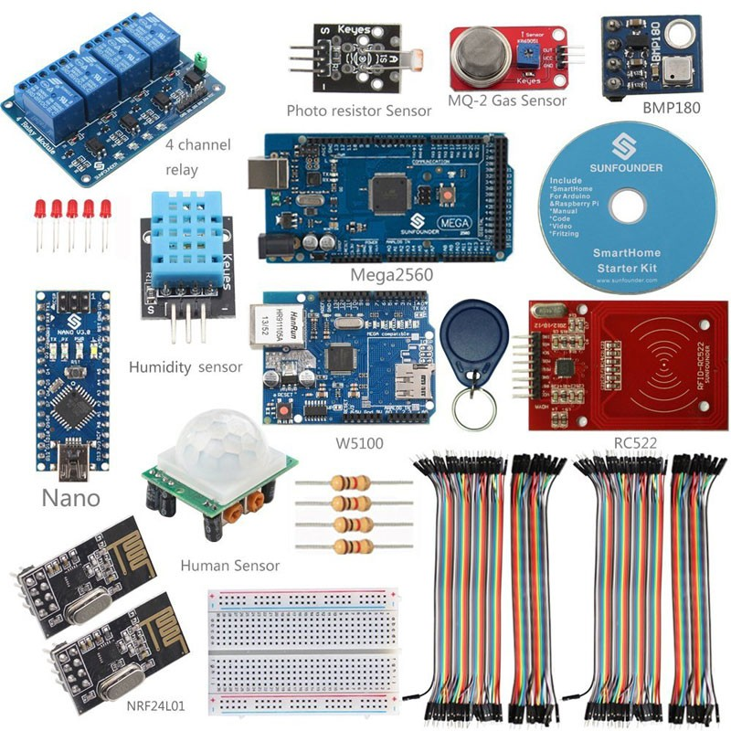 Smart Home Kit Internet of Things for Arduino & Raspberry Pi