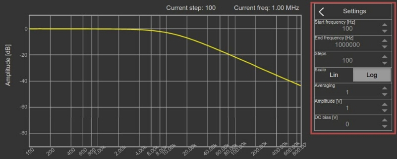 Bode Analyzer Plot settings panel